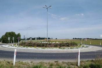 Rondo na skrzyżowaniu DW 789 z ul. Koziegłowską / fot. mat. organizatora